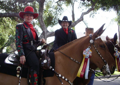 Bari and Bert Bonnett, Pasadena Rose Parade, January 1, 2005