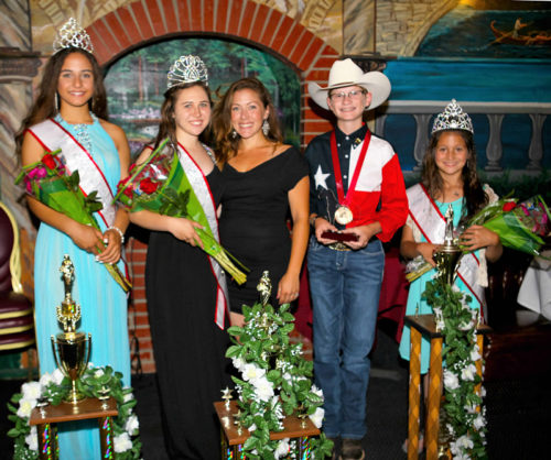 2016 - 2017 Jr. Miss Cherysh Drayton, Queen Megan Kitcko, Program Director Michelle Kraut, Prince Chance Leatherman & Little Miss Abigail Lippert