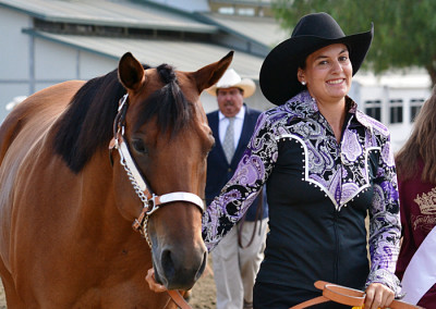 Rebecca Stivers on Little Bunny Fu Fu in the Halter Class at the ETI Convention