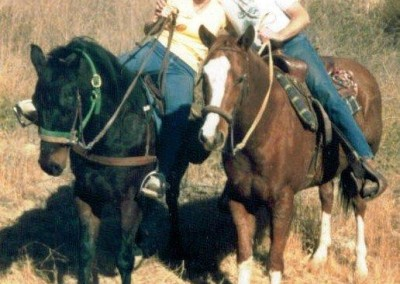 Linda and Mike Fullerton on Banjo and Bojangles, ETI Corral 20 Trail Ride, 2008