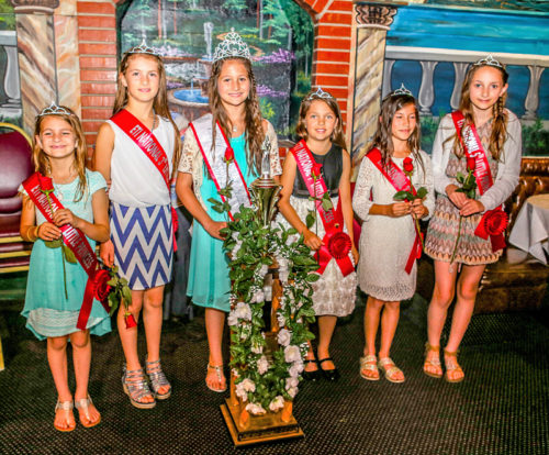 4th Little Princess Aramas Ovayan, 3rd Little Princess Anita Ovayan, Little Miss Abigail Lippert, 1st Little Princess Kayla Potts, 2nd Little Princess Carli Bertonneau & 5th Little Princess Ariana Grasso