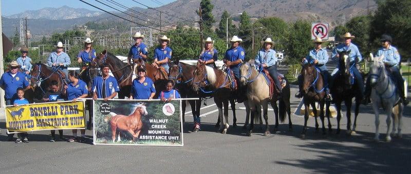 Mounted Assistance Unit MAU San Dimas Parade
